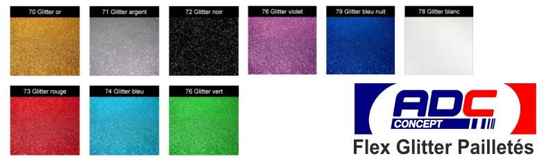 """Flex de découpe Glitter """"Effets pailletés"""""""