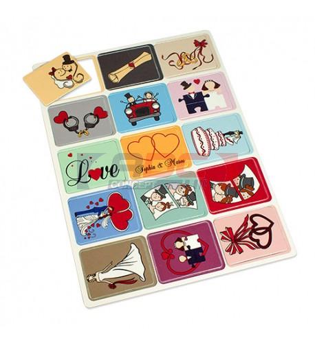 Jeu de mémoire avec 15 cartes personnalisables (vendu à l'unité)