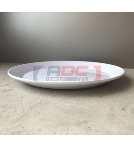 Assiette creuse en polymère blanche pour sublimation 3D Ø 19 cm (vendu à l'unité)