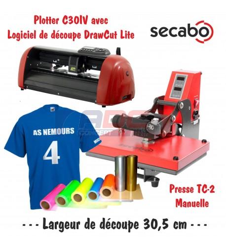 Atelier Textile C30IV avec presse manuelle Secabo TC-2 23 x 33 cm