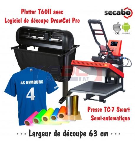 Atelier Textile Pro T60II avec presse semi automatique TC-7 Smart Bluetooth 40 x 50 cm
