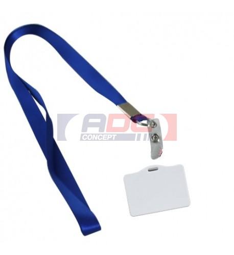 Badge en polymère avec tour de cou de couleur - 3 coloris (vendu à l'unité)