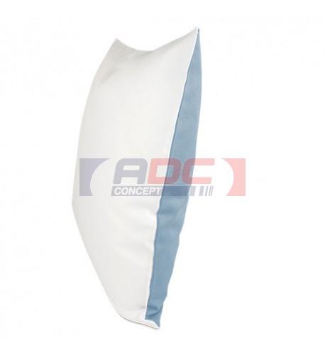 Housse de coussin bicolore azur 40 x 40 cm surface structurée