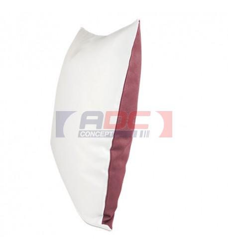 Housse de coussin bicolore framboise 40 x 40 cm surface structurée