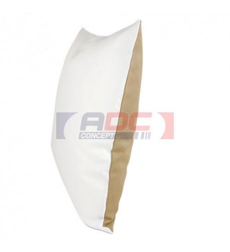 Housse de coussin bicolore moka 40 x 40 cm surface structurée
