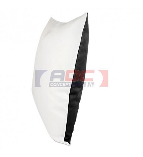Housse de coussin bicolore noir 40 x 40 cm surface structurée