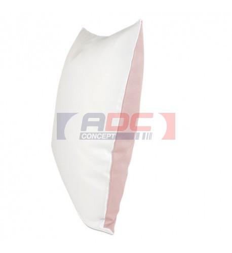 Housse de coussin bicolore rose 40 x 40 cm surface structurée