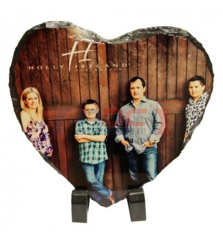 Bloc ardoise coeur 15 x 15 cm épaisseur 8 mm (vendu à l'unité)