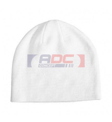 Bonnet blanc en tissu 50% coton / 50% polyester (vendu à l'unité)