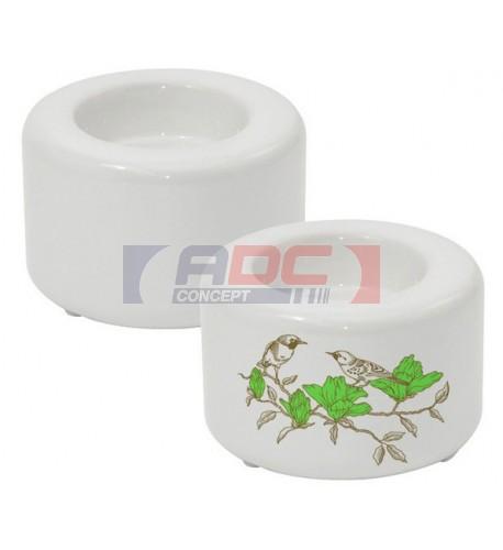 Bougeoir en céramique blanche