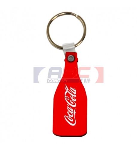 Porte-clé en MDF blanc brillant format bouteille (vendu à l'unité)
