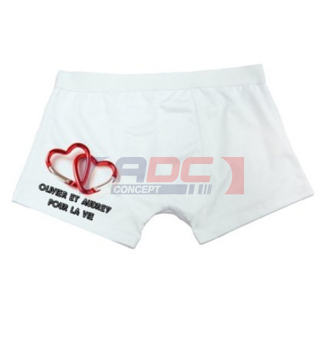 Boxer blanc 90% polyester / 10% spandex - Taille unique