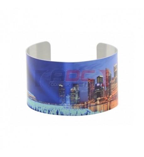 Bracelet déformable en aluminium blanc brillant pour sublimation