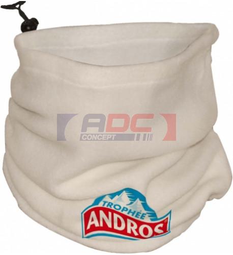 Cache-col ou bonnet en polaire écru 240 gr/m² 23 x 27 cm - Taille unique
