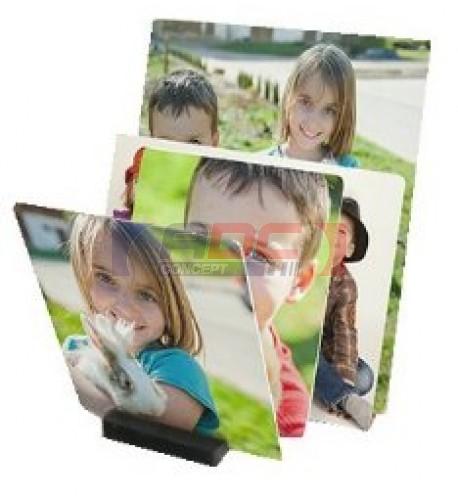 Tableau photo Chromaluxe en aluminium blanc brillant 15 x 15 cm (vendu à l'unité)