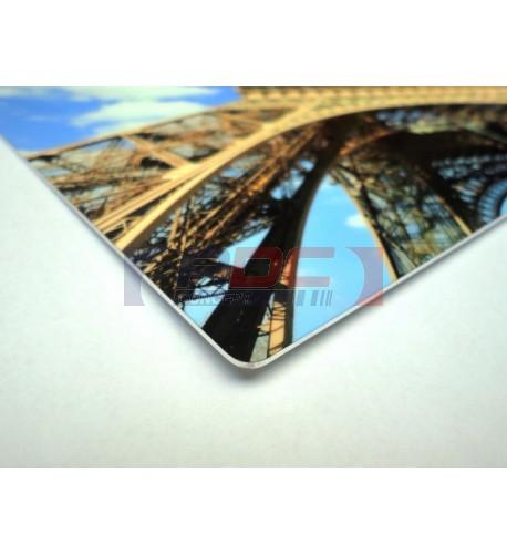 Tableau photo Chromaluxe en aluminium blanc brillant 20 x 30 cm (vendu à l'unité)