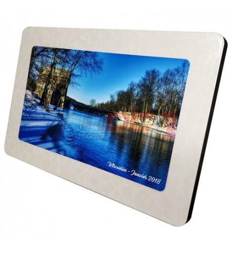Cadre photo en MDF rectangulaire 30 x 20 cm légèrement bombé effet cristal