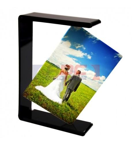 Cadre photo original en verre oblique