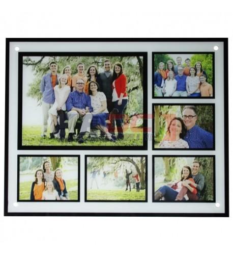 Cadre en verre 40 x 50 cm en verre avec 6 compartiments pour une photo