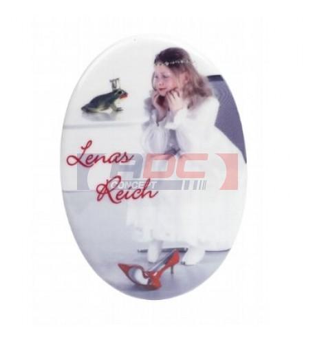 Carrelage ovale blanc céramique : 2 formats