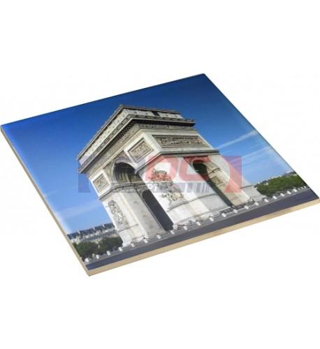 Carrelage blanc céramique carré 20 x 20 cm