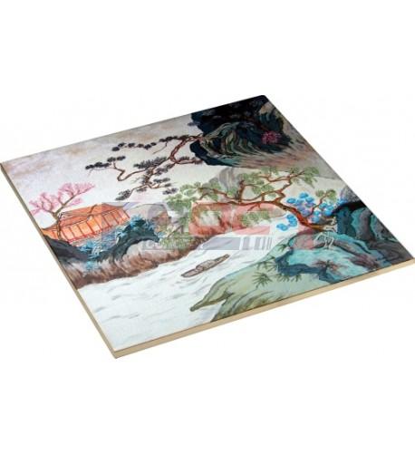 Carrelage blanc céramique carré 15,2 x 15,2 cm