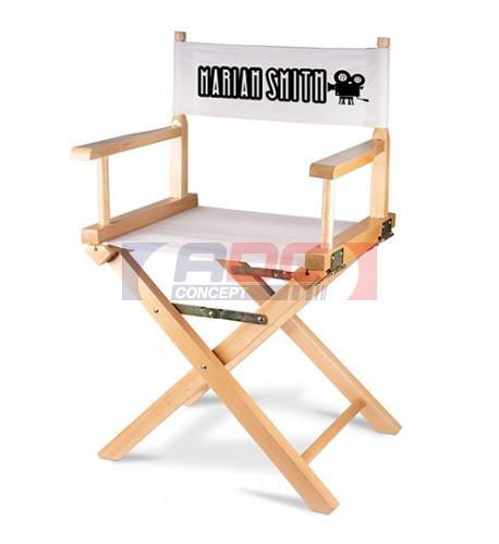 Tissu de rechange du dossier pour chaise de réalisateur pliante en bois de bouleau (vendu à l'unité)