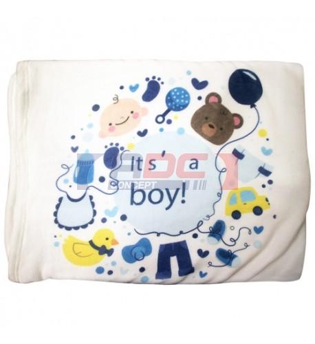 Couverture pour bébé en polyester toucher flanelle pour sublimation (vendu à l'unité)