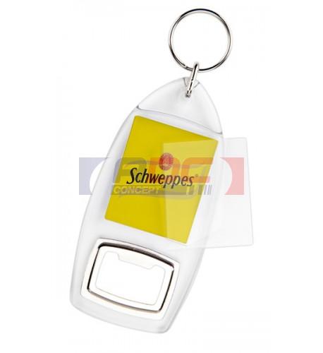 Lot de 100 porte-clés acryliques décapsuleur CR-AB Transparent