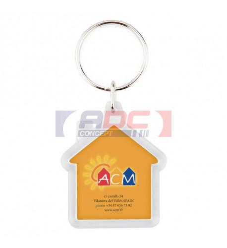 Lot de 100 porte-clés acryliques CR-Y Maison - Marquage 2 faces