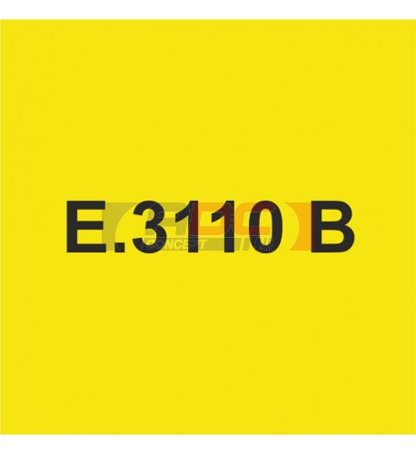 E3110B Jaune Moyen brillant - Vinyle adhésif Ecotac - Durabilité jusqu'à 6 ans