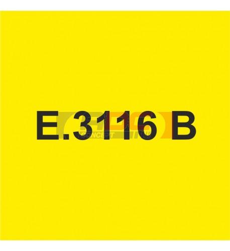 E3116B Jaune Clair brillant - Vinyle adhésif Ecotac - Durabilité jusqu'à 6 ans