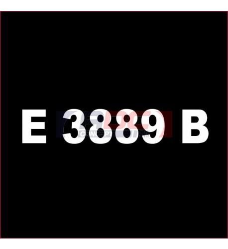 E3889B Noir brillant - Vinyle adhésif Ecotac - Durabilité jusqu'à 6 ans