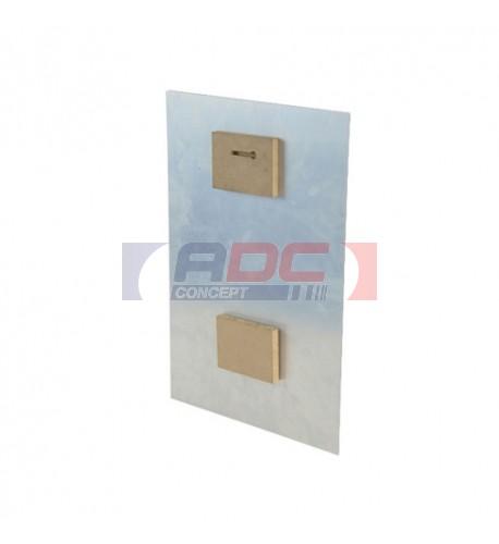 Paire d'entretoises en bois pour cadre alu format maxi 40 x 50 cm