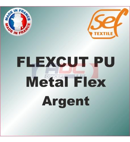 PU Métalflex Argent métal - Vinyle thermocollant 60 microns
