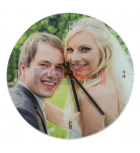Horloge ronde murale en verre lisse Ø 18 cm (vendu à l'unité)