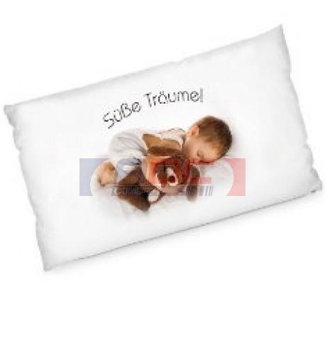 Housse de coussin blanche 80 x 40 cm microfibres (vendu à l'unité)