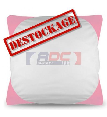 Housse de coussin bicolore 40 x 40 cm avec angles coloris rose (vendu à l'unité)