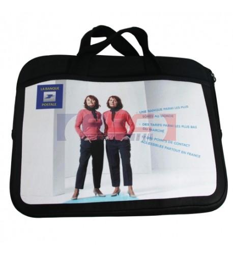 Housse avec 2 poches latérales sublimables pour tablette tactile