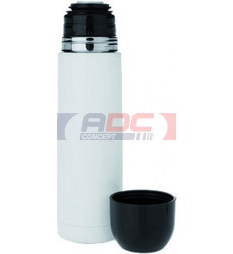 Bouteille isotherme aluminium laque blanc traitée polyester