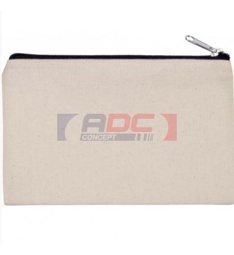 Pochette KI0720 en coton canvas 310 g/m² 20 x 12 cm - 3 coloris (vendu à l'unité)