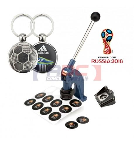 Kit de démarrage complet pour réaliser vos porte-clés métal Football