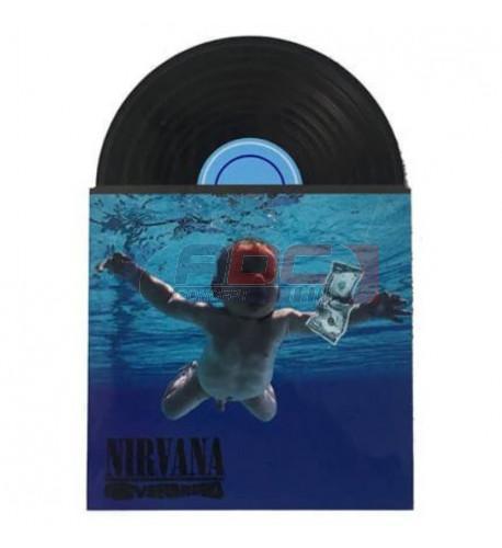 Magnet en MDF forme disque vinyle 7 x 10,2 cm (vendu à l'unité)