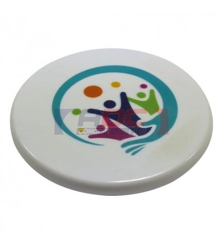 Magnet blanc en polymère (plastique incassable) format rond (vendu à l'unité)