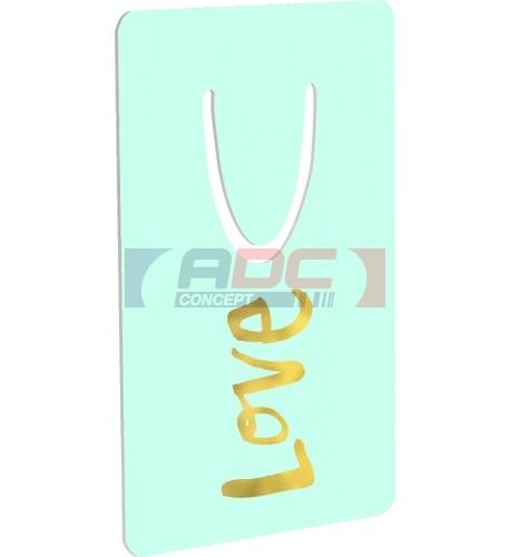 Marque-page aluminium blanc brillant Unisub 5,1 x 7,6 cm (vendu à l'unité)