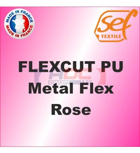 PU Métalflex Rose Métal - Vinyle thermocollant 60 microns