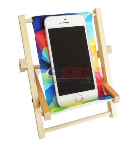 Mini chaise de bureau pour téléphone portable avec toile
