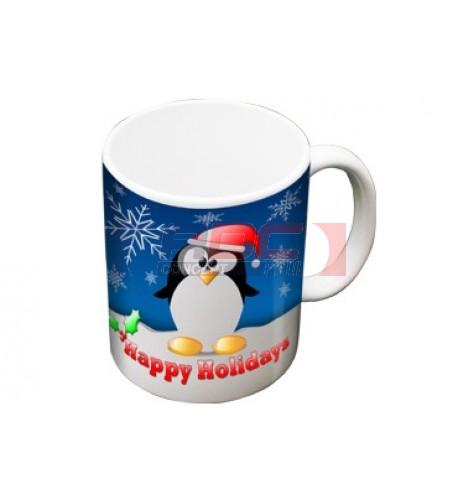 Mini Mug blanc céramique traité polyester H 7,2 cm - Ø 6,2 cm (vendu à l'unité)