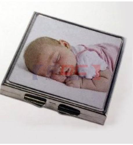 Miroir de poche carré pour sac à main