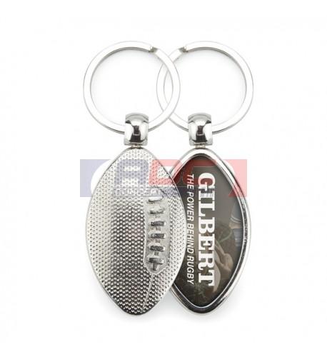 "Lot de 100 porte-clés métalliques 57 mm ""MRB"" Rugby"